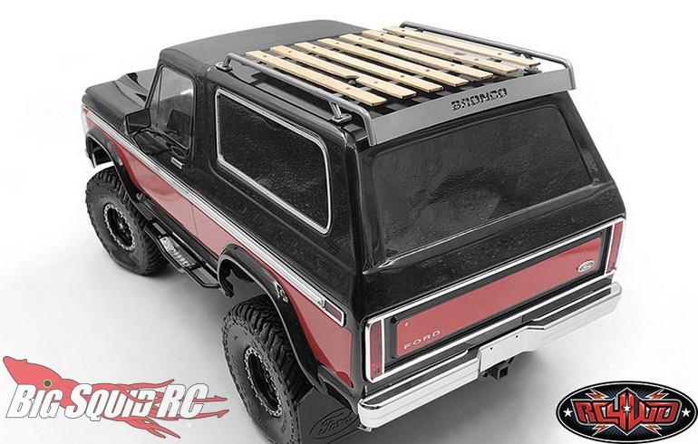 Rc4wd Wood Roof Rack For The Traxxas Trx 4 Bronco Big