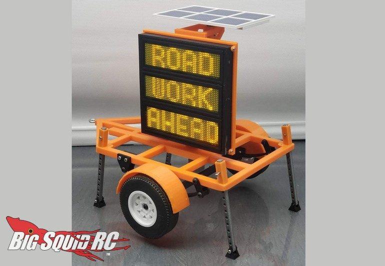 Exclusive RC 1/14 Scale Construction DOT Sign Trailer