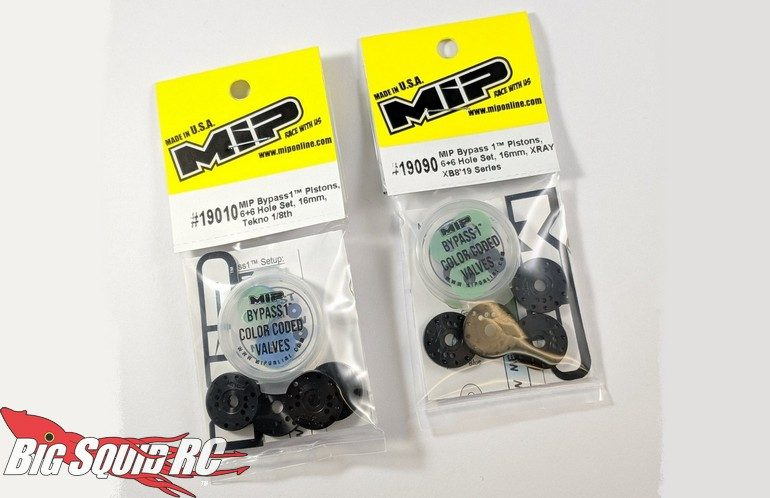 MIP Bypass Shock Pistons 1/8 Buggy Tekno HB Racing