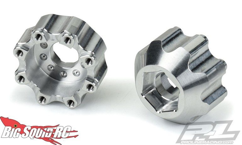 Pro-Line 8x32 to 17mm half inch Offset Aluminum Hex Adapters