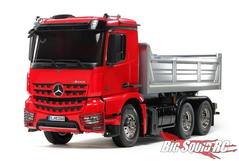 Tamiya Mercedes-Benz Arocs 6x4 Tipper Truck Red Silver Edition