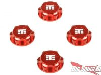 Tekno RC Red Anodized Captured Wheel Nuts