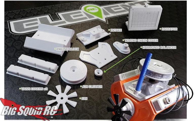 Element RC 3D Printed Engine Parts