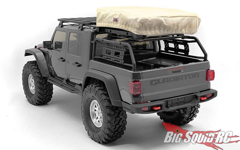 RC4WD Adventure Rooftop Tent Steel Rack Axial Jeep Gladiator