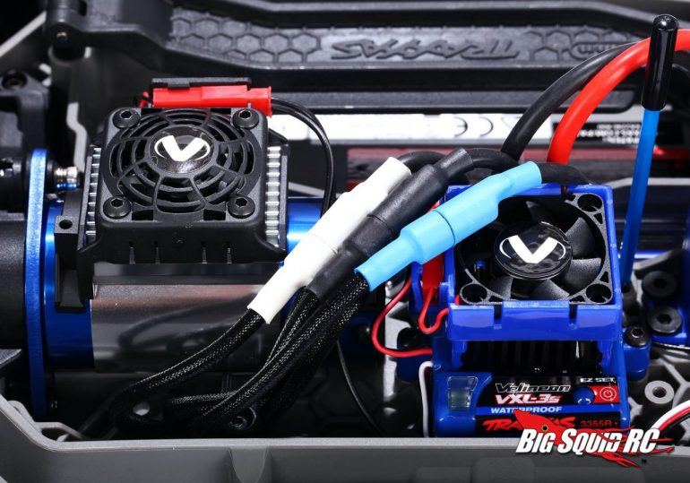 Traxxas Hoss 4x4 VXL Motor Cooling System - Installed