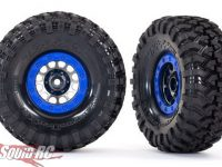"Traxxas Pre-Mounted Method 105 1.9"" Wheels with Canyon Trail 4.6x1.9"" Tires"