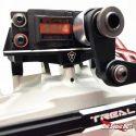 Treal Losi LMT Aluminum Servo Mount - Black - Installed