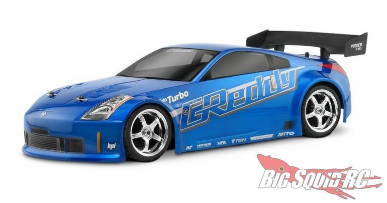 HPI Racing Nissan 350Z Greddy Twin Turbo Clear Body