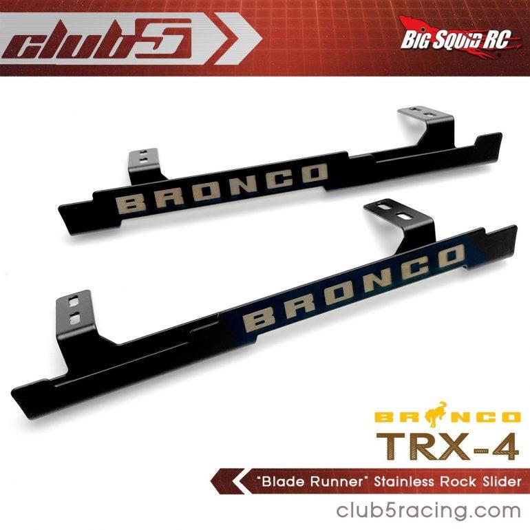 Club 5 Racing Blade Runner Stainless Steel TRX-4 2021 Ford Bronco Rock Sliders