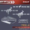Club 5 Racing Traxxas TRX-4 2021 Ford Bronco Body Decals - Silver