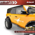 Club 5 Racing Traxxas TRX-4 2021 Ford Bronco Body Decals - Silver - 3
