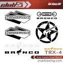 Club 5 Racing Traxxas TRX-4 2021 Ford Bronco Decals Set - Black - 4
