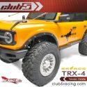 Club5Racing Traxxas TRX-4 2021 Ford Bronco Fender Delete Kit - Installed Front Detail
