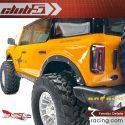 Club5Racing Traxxas TRX-4 2021 Ford Bronco Fender Delete Kit - Installed Rear Detail