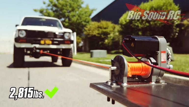 RC4WD Warn Winch Video Pulls Full SIzed Car
