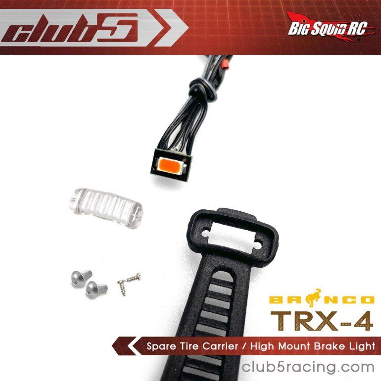 Club 5 Racing Traxxas TRX-4 2021 Bronco Spare Tire Carrier and Third Brake Light - 5