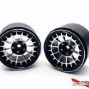 Treal Multi-spoke 2.2 Aluminum Beadlock Wheels - Black
