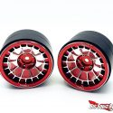 Treal Multi-spoke 2.2 Aluminum Beadlock Wheels - Red