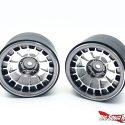 Treal Multi-spoke 2.2 Aluminum Beadlock Wheels - Silver