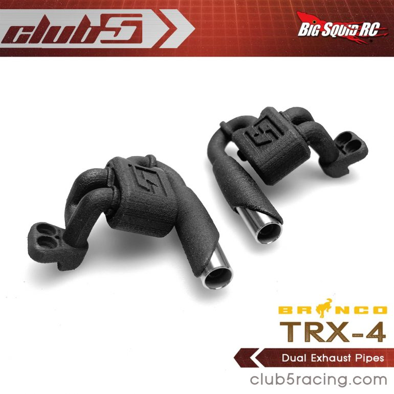 Club 5 Racing Dual Performance Exhaust for the Traxxas TRX-4 2021 Ford Bronco