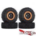 Injora Super Swamper 1-inch Beadlock Wheels - Black Gold