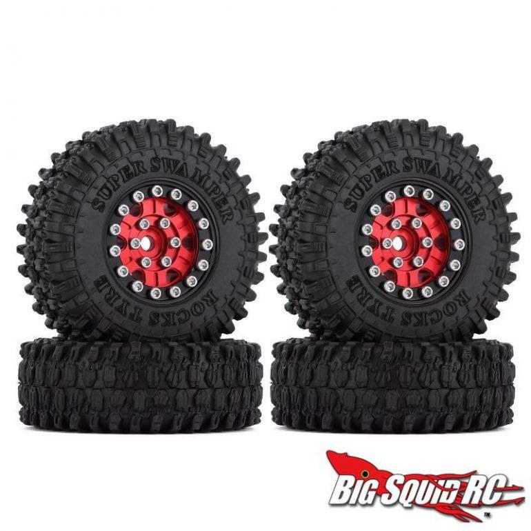 Injora Super Swamper 1-inch Beadlock Wheels - Red