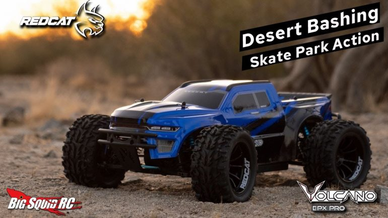 Redcat Racing Volcano EPX Pro Desert and Skate Park Bash Video