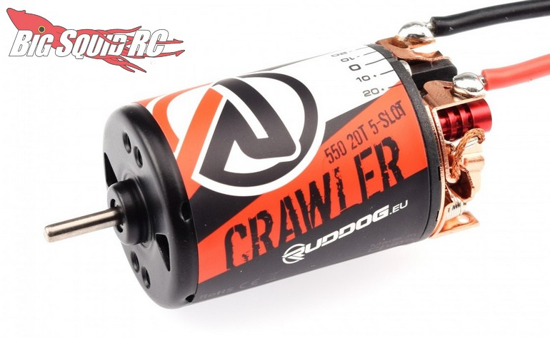 RUDDOG Crawler 550 20T 5-Slot Brushed Motor